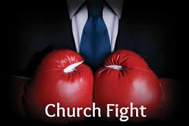church fight